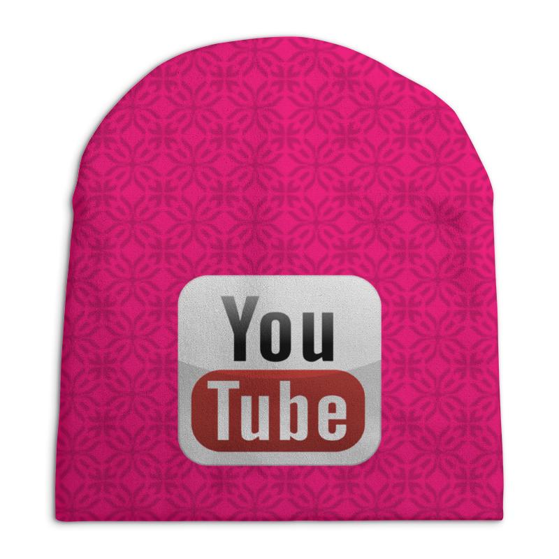 Шапка унисекс с полной запечаткой Printio Youtube кепка printio youtube