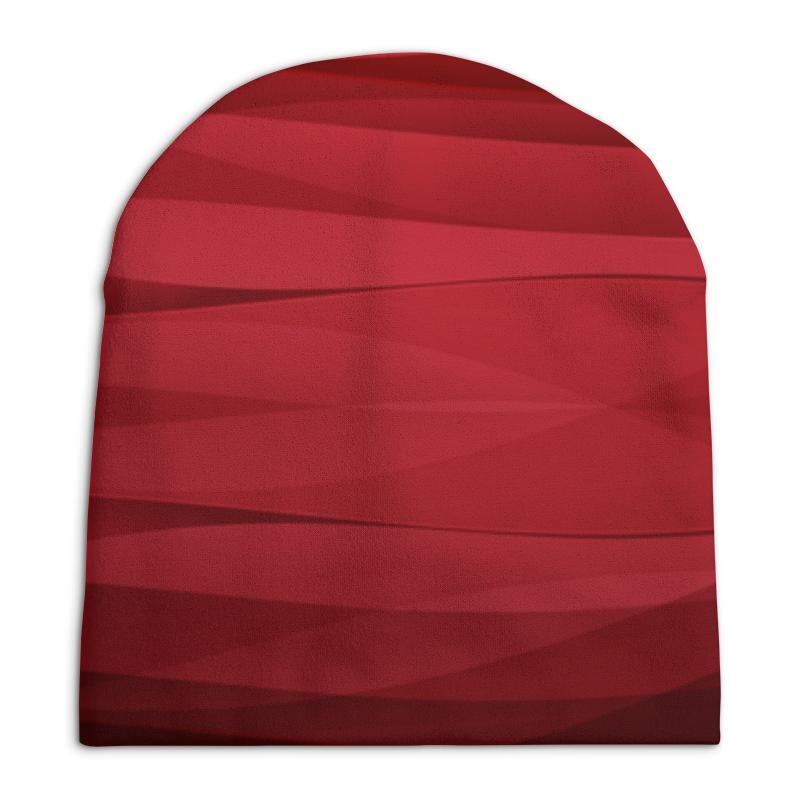 Шапка унисекс с полной запечаткой Printio Красная абстракция шапка унисекс с полной запечаткой printio красная абстракция