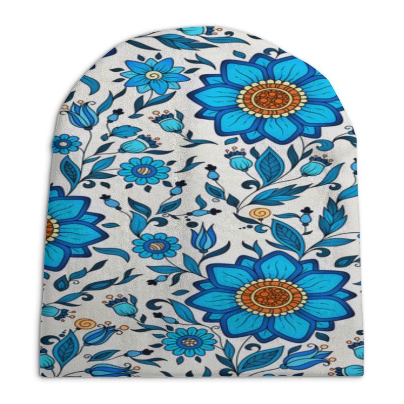 Шапка унисекс с полной запечаткой Printio Узор цветочный шапка унисекс с полной запечаткой printio геометрический узор
