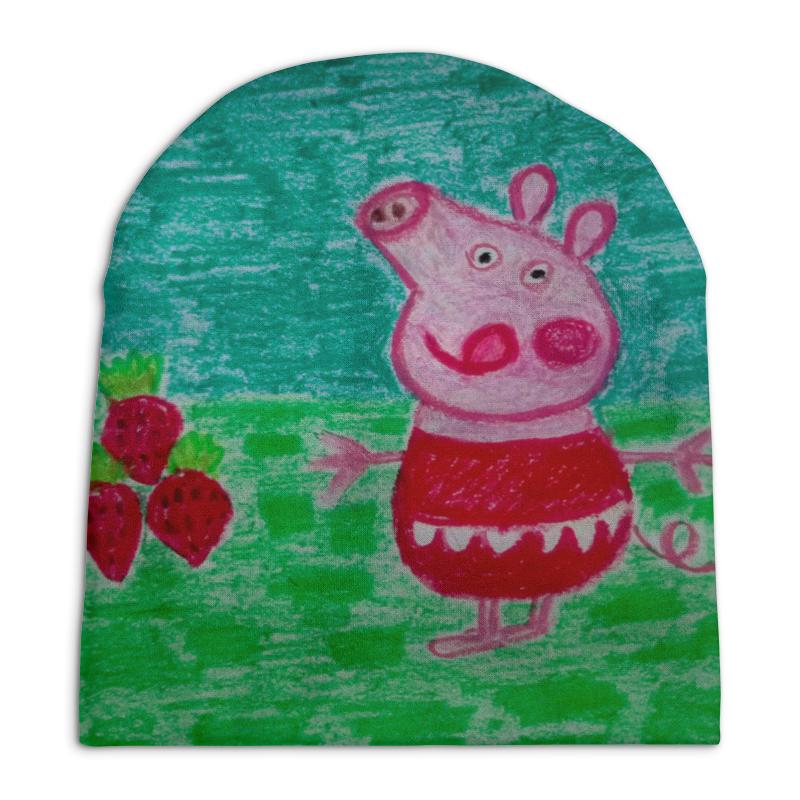 Шапка унисекс с полной запечаткой Printio Свинка с аппетитом