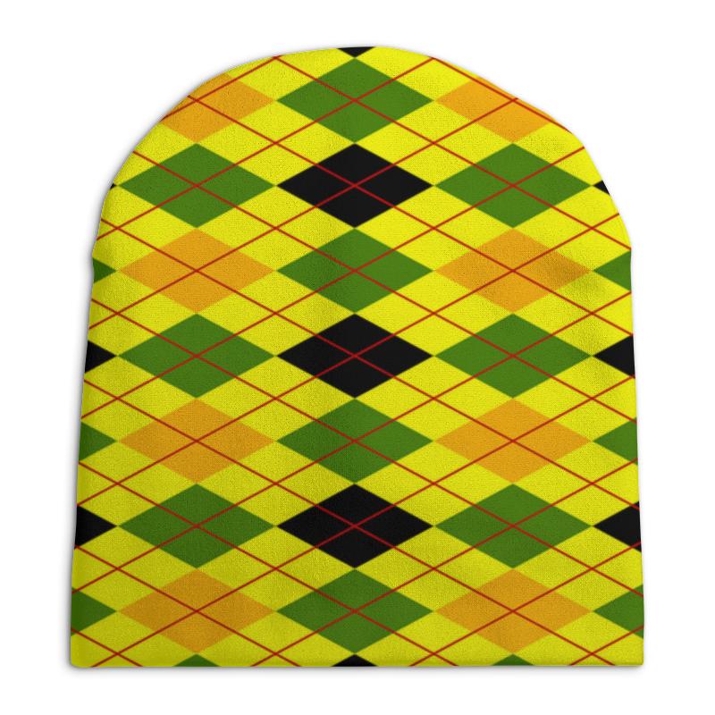 Шапка унисекс с полной запечаткой Printio Клетка желтая шапка унисекс с полной запечаткой printio спиннер