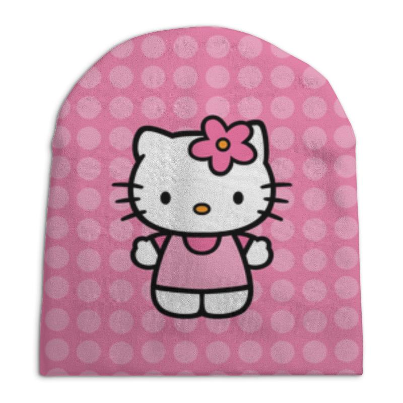 Шапка унисекс с полной запечаткой Printio Kitty в горошек шапка унисекс с полной запечаткой printio закат в ялте айвазовский