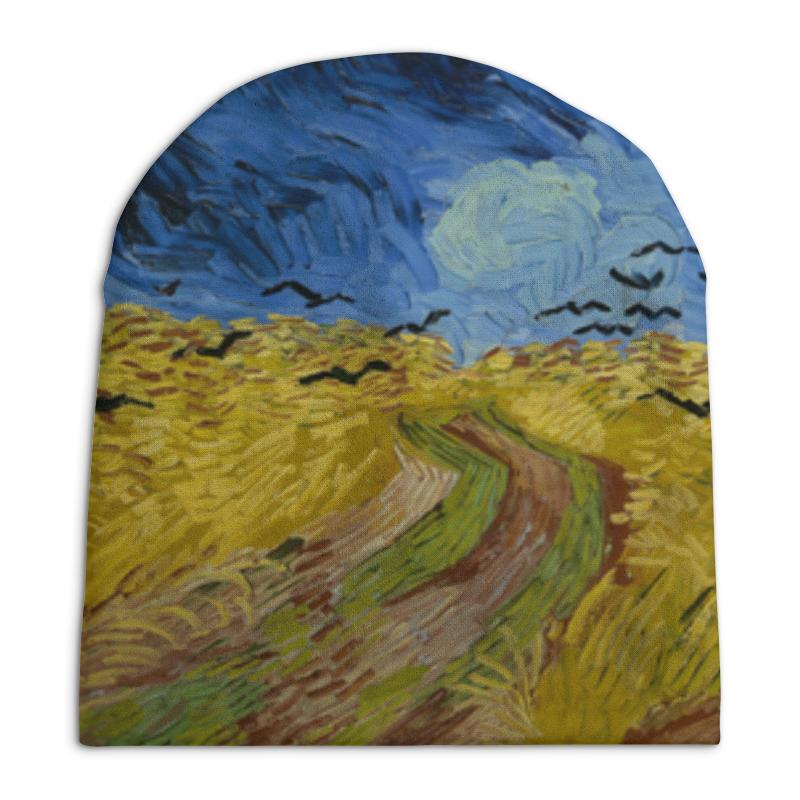 все цены на Шапка унисекс с полной запечаткой Printio Пшеничное поле с воронами (ван гог) онлайн