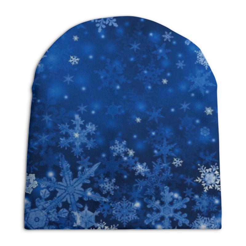 Шапка унисекс с полной запечаткой Printio Снежинки костюм снежинки