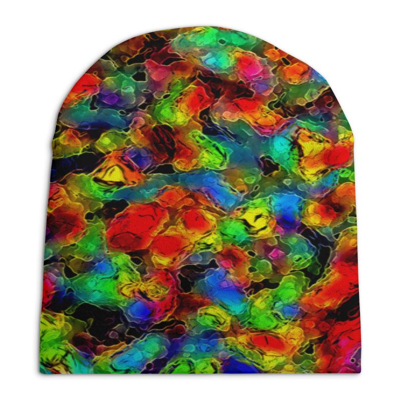 Шапка унисекс с полной запечаткой Printio Цветные пятна шапка унисекс с полной запечаткой printio сад земных наслаждений