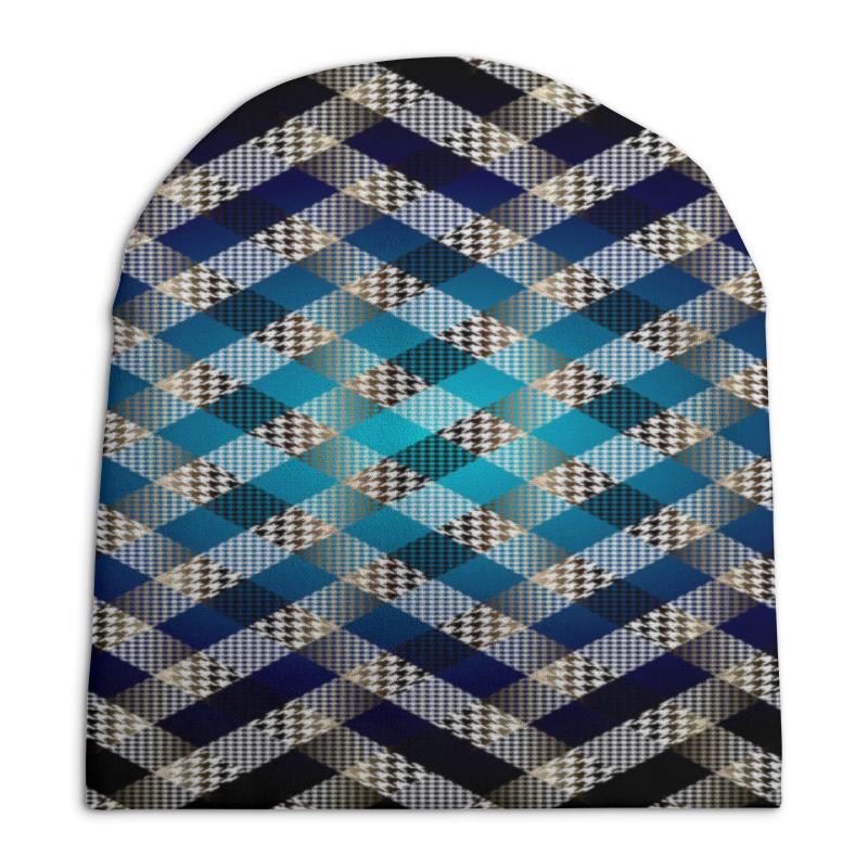 Шапка унисекс с полной запечаткой Printio Цветная клетка футболка с полной запечаткой для девочек printio цветная клетка