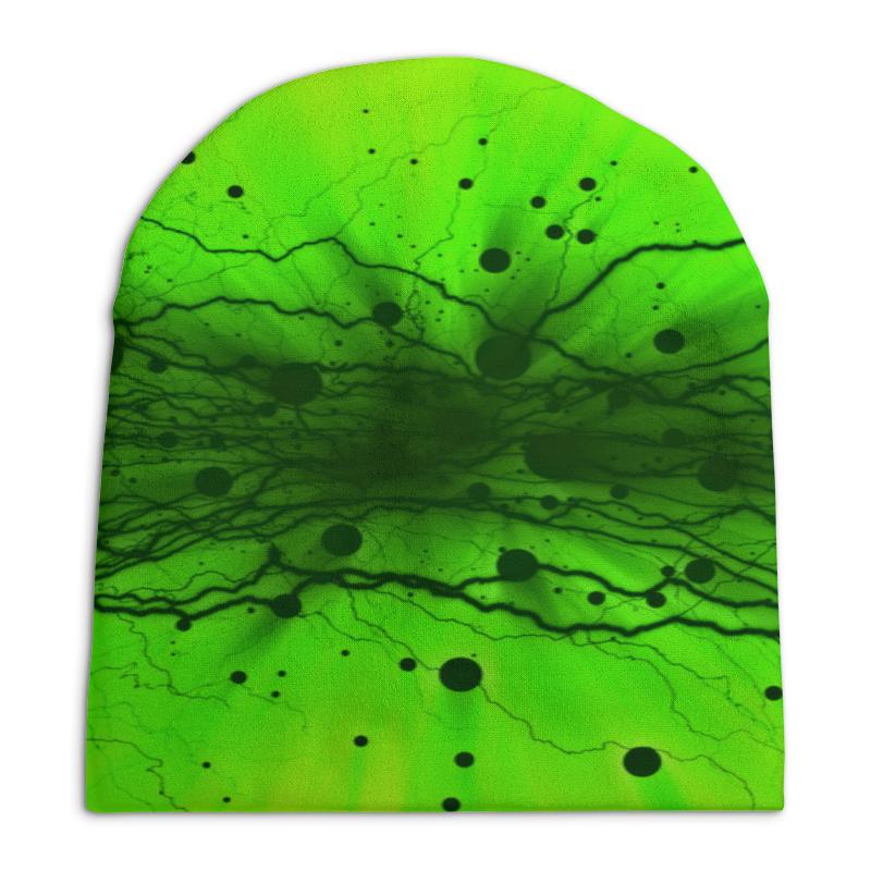 Шапка унисекс с полной запечаткой Printio Узор на зеленом шапка унисекс с полной запечаткой printio геометрический узор