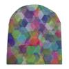 """Шапка унисекс с полной запечаткой """"Орнамент 3d кристаллы-гексагоны"""" - праздник, орнамент, подарок, абстракция, геометрия"""