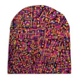 """Шапка унисекс с полной запечаткой """"Карамель."""" - арт, узор, абстракция, фигуры, текстура"""
