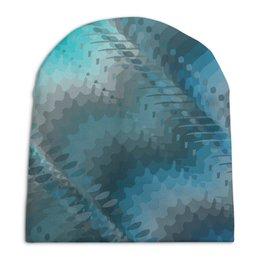 """Шапка унисекс с полной запечаткой """"Сизая фантазия."""" - голубой, абстракция, фантазия, бирюзовый, сизый"""