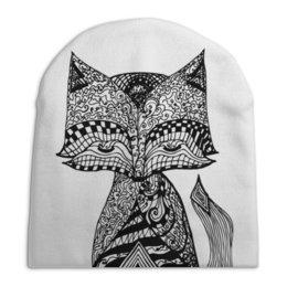 """Шапка унисекс с полной запечаткой """"Animals"""" - животные, графика, иллюстрация, лиса, стилизованнаялиса"""