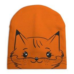 """Шапка унисекс с полной запечаткой """"Foxy Лисичка"""" - для девушек, рыжий, для девочек, fox, лисичка"""