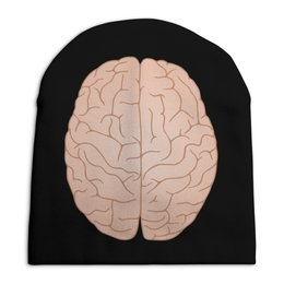 "Шапка унисекс с полной запечаткой ""Мозги"" - мозг, ум"