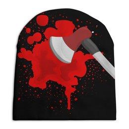 """Шапка унисекс с полной запечаткой """"Топор"""" - голова, кровь, топор, раскольников"""
