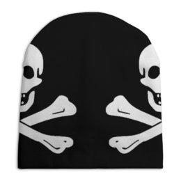 """Шапка унисекс с полной запечаткой """"""""Весёлый Роджер - Jolly Roger"""""""" - череп, пираты, jolly roger, пиратский флаг, весёлый роджер"""