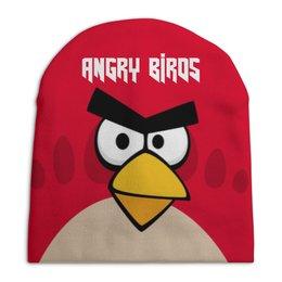 """Шапка унисекс с полной запечаткой """"Angry Birds (Terence)"""" - terence, компьютерная игра, игры, angry birds, детям"""