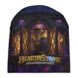 "Шапка унисекс с полной запечаткой ""HEARTHSTONE"" - игры, blizzard, hearthstone, хартстоун"