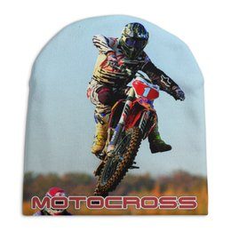 """Шапка унисекс с полной запечаткой """"Motocross"""" - мотоцикл, мотокросс, motocross, mx1, мотогонщику"""