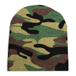 """Шапка унисекс с полной запечаткой """"Камуфляж"""" - армия, камуфляж, военный"""