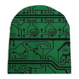 """Шапка унисекс с полной запечаткой """"Электроника"""" - дизайн, техника, наука, электроника"""