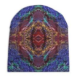 """Шапка унисекс с полной запечаткой """"Third eye"""" - яркий, мандала, абстрактный, необычный, геометрический"""