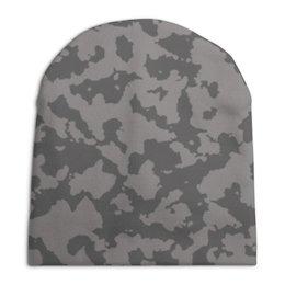 """Шапка унисекс с полной запечаткой """"Тёмно-Серый Камуфляж"""" - армия, камуфляж, camouflage, военный, тёмно серый камуфляж"""