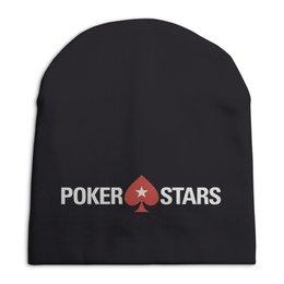 "Шапка унисекс с полной запечаткой ""POKERSTARS"" - покер, казино, pokerstars, casino, full tilt poker"