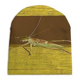 """Шапка унисекс с полной запечаткой """"Саранча."""" - насекомое, насекомые, саранча, кузнечик, макро мир"""