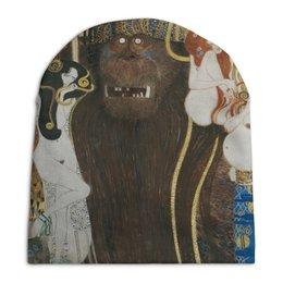 """Шапка унисекс с полной запечаткой """"Враждебные силы (Густав Климт)"""" - картина, живопись, климт, бетховенский фриз"""