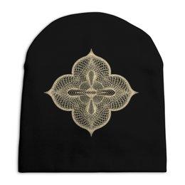 """Шапка унисекс с полной запечаткой """" Собор """" - узор, крест, монах, собор, гильош"""