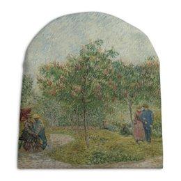 """Шапка унисекс с полной запечаткой """"Garden in Montmarte with lovers (Ван Гог)"""" - картина, ван гог, живопись"""