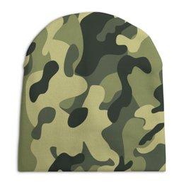 """Шапка унисекс с полной запечаткой """"Камуфляж"""" - армия, army, камуфляж, camouflage, военный"""