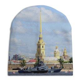 """Шапка унисекс с полной запечаткой """"Петропавловская крепость"""" - питер, санкт-петербург, спб, лучший город"""