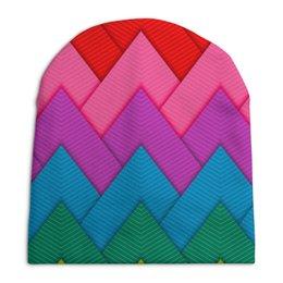 """Шапка унисекс с полной запечаткой """"Papercraft style"""" - абстракция, геометрия, papercraft"""