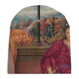 """Шапка унисекс с полной запечаткой """"Золотая клетка (Эвелин де Морган)"""" - картина, морган"""