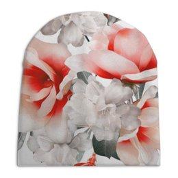 """Шапка унисекс с полной запечаткой """"Цветы"""" - цветы"""