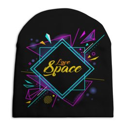 "Шапка унисекс с полной запечаткой ""Love Space"" - космос, наука, астрономия, the spaceway"