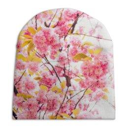 """Шапка унисекс с полной запечаткой """"Цветочный рай"""" - цветы, рай, нежность"""