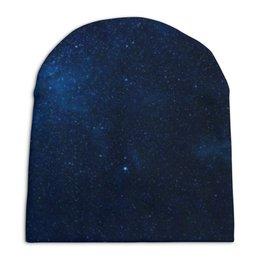 """Шапка унисекс с полной запечаткой """"Звездное небо"""" - звезды, небо"""