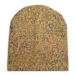 """Шапка унисекс с полной запечаткой """"Сандал"""" - арт, узор, абстракция, фигуры, текстура"""