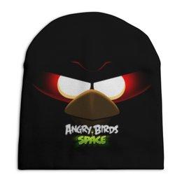 "Шапка унисекс с полной запечаткой ""Space (Angry Birds)"" - игры, space, мультфильм, птица, angry birds"