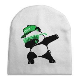 """Шапка унисекс с полной запечаткой """"Dab Panda """" - животные, панда, panda, дэб, dab"""