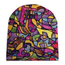 """Шапка унисекс с полной запечаткой """"rrg`90`90=-="""" - арт, узор, абстракция, фигуры, текстура"""