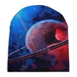 """Шапка унисекс с полной запечаткой """"Планета"""" - звезды, планета, космос, созвездие, галактика"""