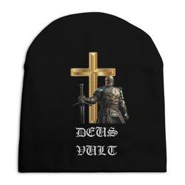 """Шапка унисекс с полной запечаткой """"DEUS VULT. Крестоносцы"""" - война, воин, оружие, бог, рыцари"""