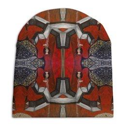 """Шапка унисекс с полной запечаткой """"My reds"""" - унисекс, абстрактный, психоделический, необычный, геометрический"""
