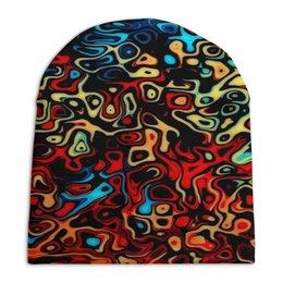 """Шапка унисекс с полной запечаткой """"Пятна красок"""" - узор, рисунок, цветные, краски, пятна"""