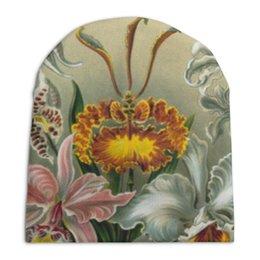 """Шапка унисекс с полной запечаткой """"Орхидеи (Orchideae, Ernst Haeckel)"""" - картина, орхидея, день матери, красота форм в природе, эрнст геккель"""