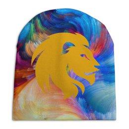 """Шапка унисекс с полной запечаткой """"Зверь"""" - арт, животные, лев, дизайн, россия"""