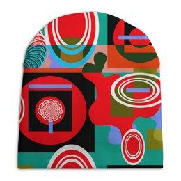 """Шапка унисекс с полной запечаткой """"Графическая абстракция"""" - арт, девушка, рисунок, цвет"""